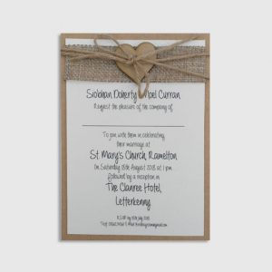 Orla Handmade Wedding Invitation