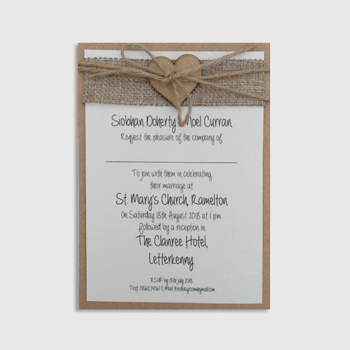 Orla Handmade Wedding Invitation