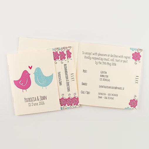 Blossom Personalised Wedding Invitation