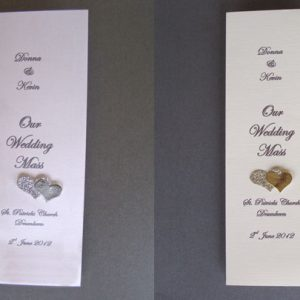 Personalised Wedding Ceremony Booklets