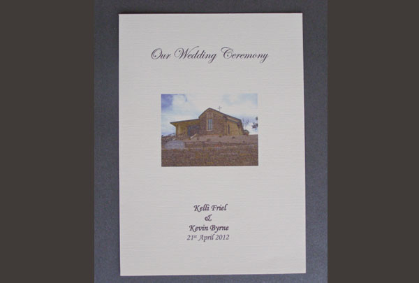 Personalised Ceremony Booklets